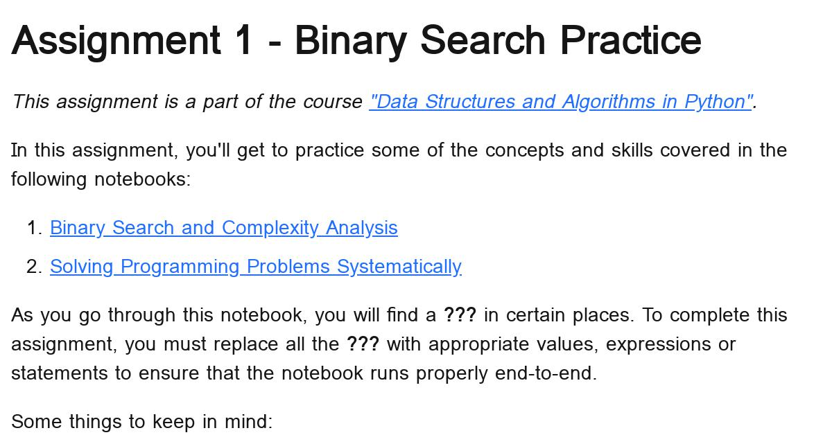 python-binary-search-assignment