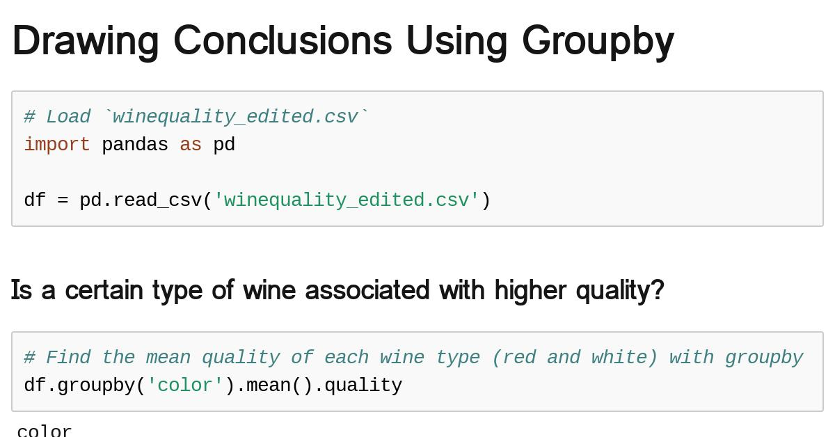 conclusions-groupby