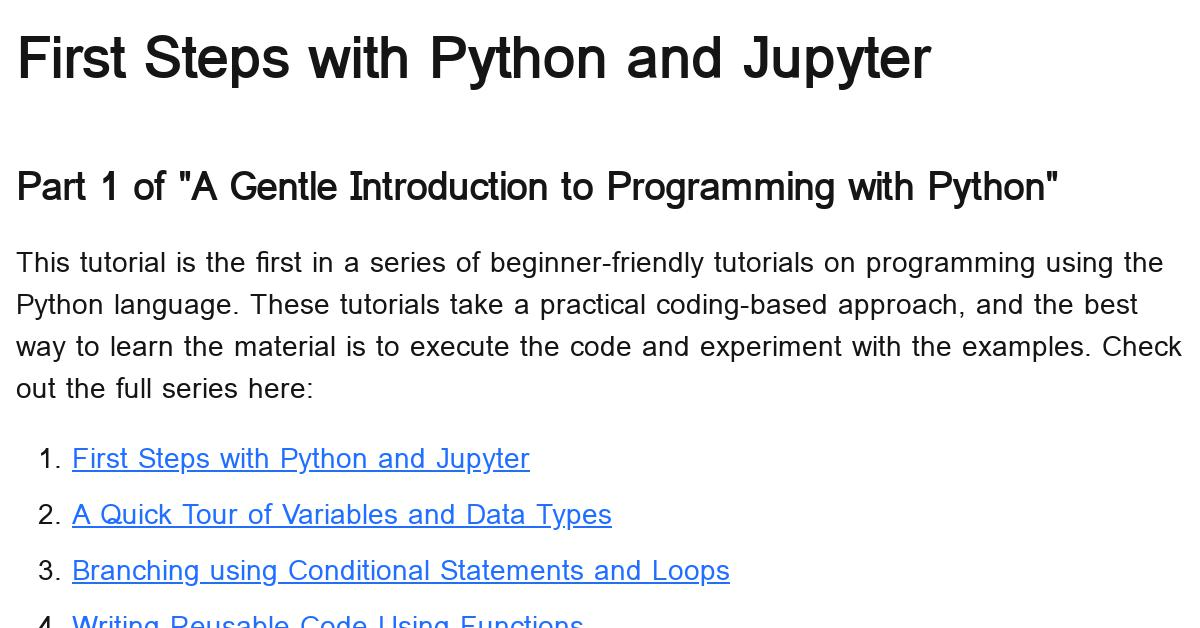 first-steps-with-pythons