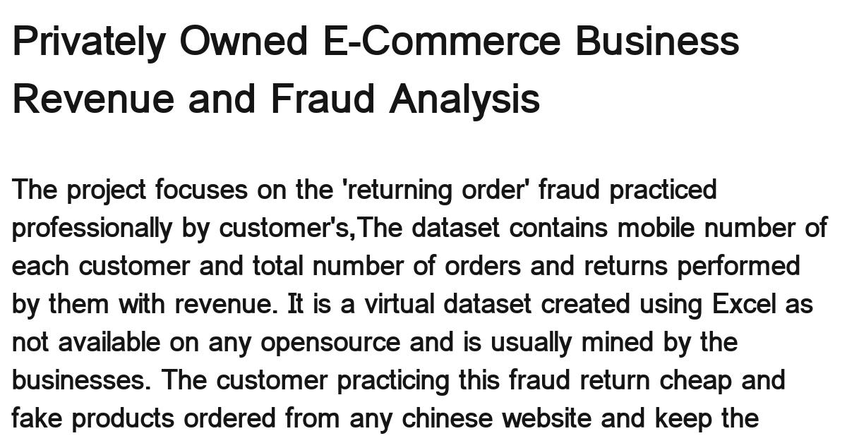e-commerce-revenue-fraud-analysis