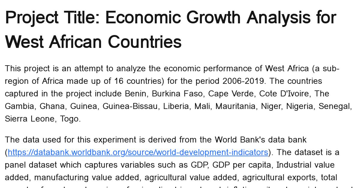economic-growth-analysis-for-west-african-countries
