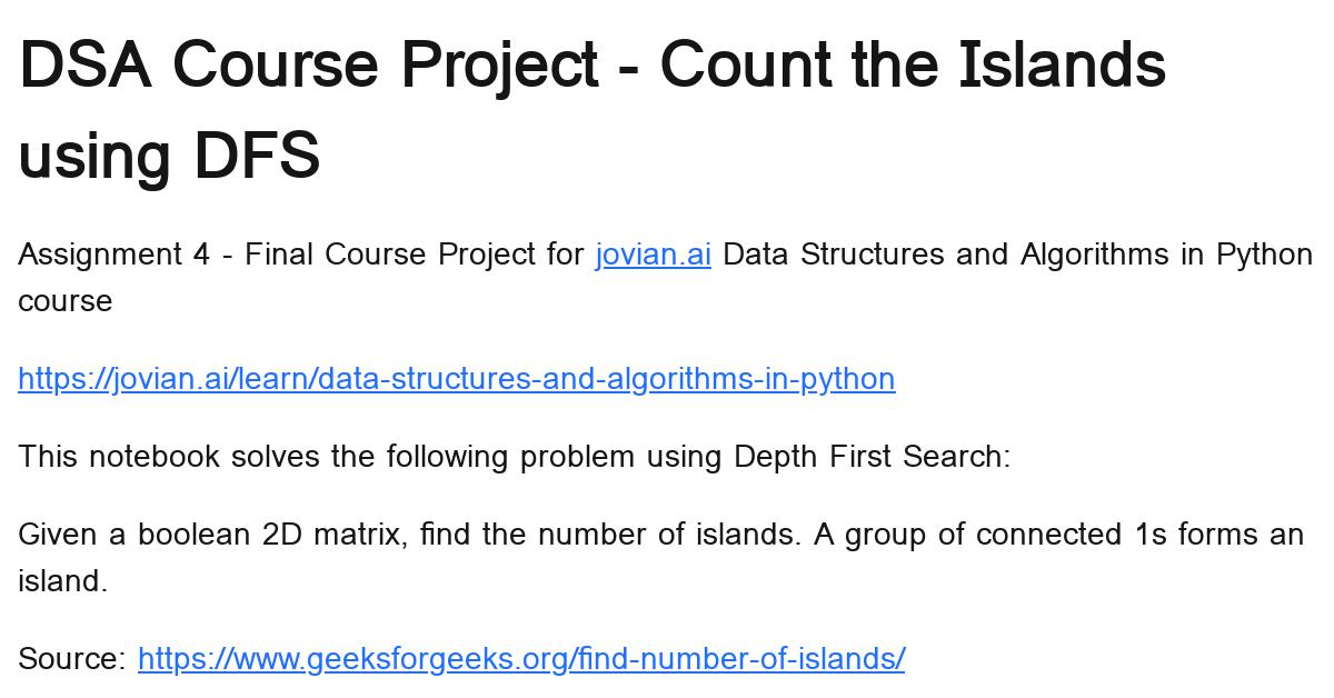 count-the-islands-using-dfs