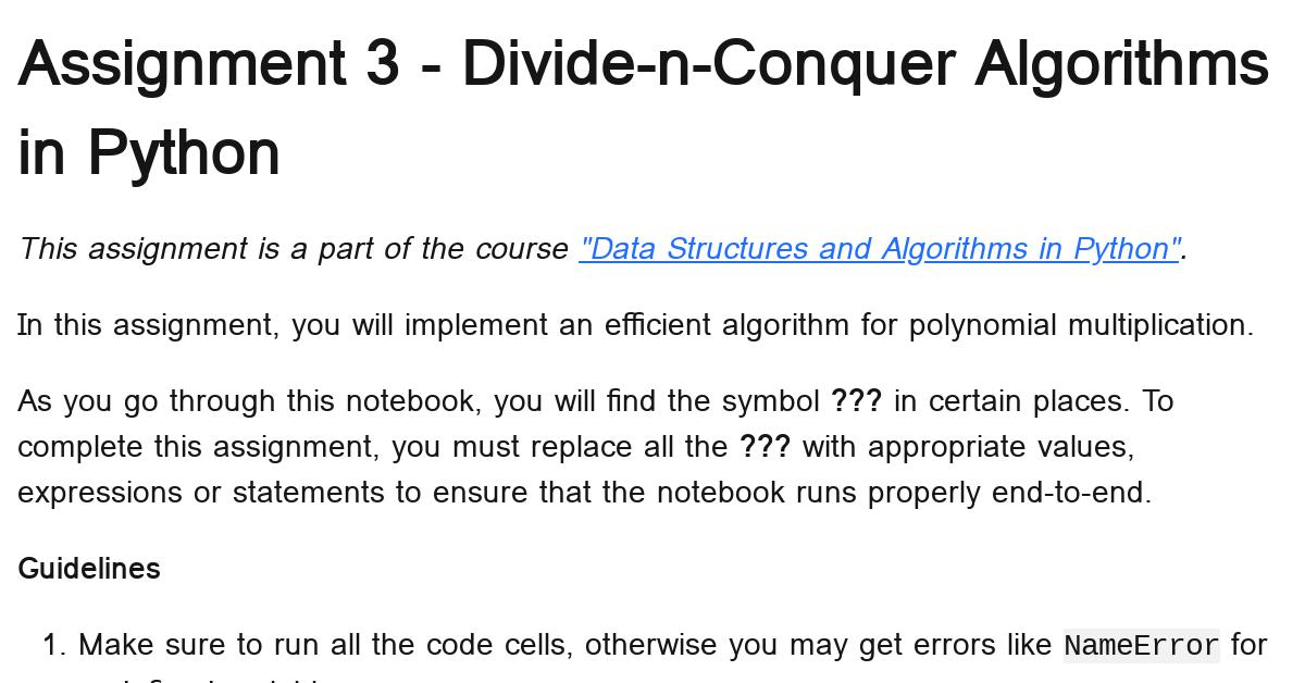 python-divide-and-conquer-assignment-1