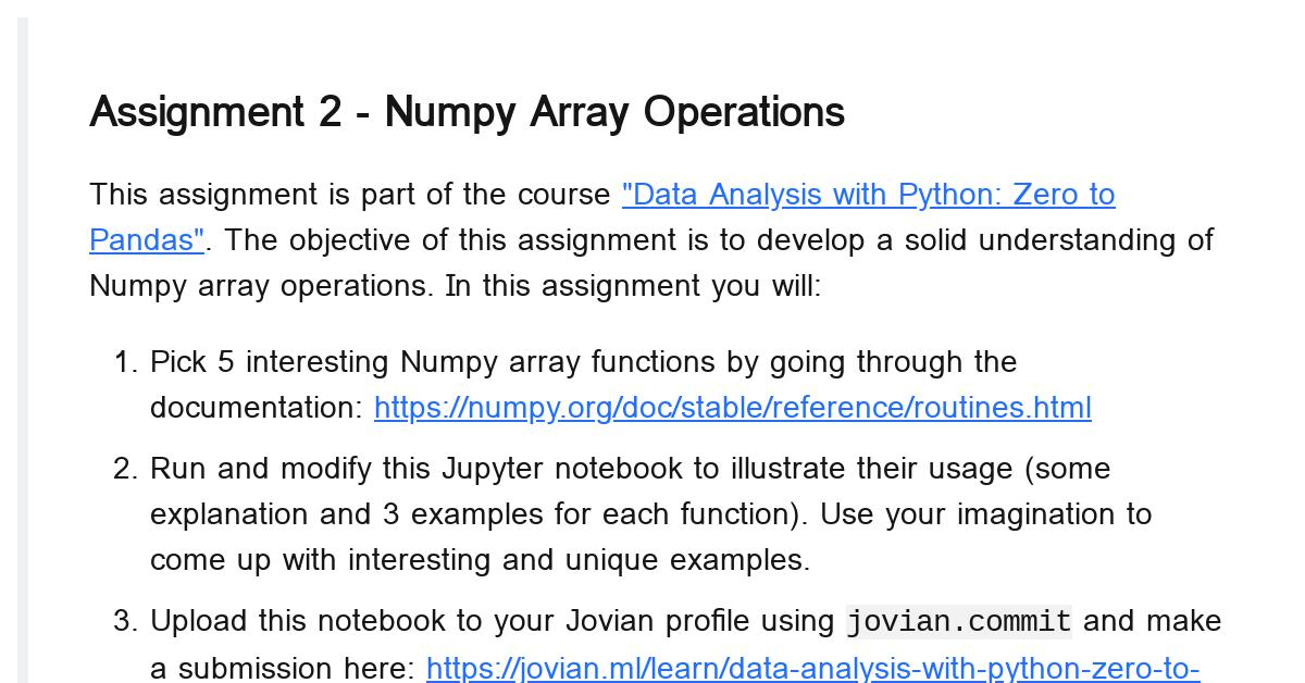 numpy-array-operations