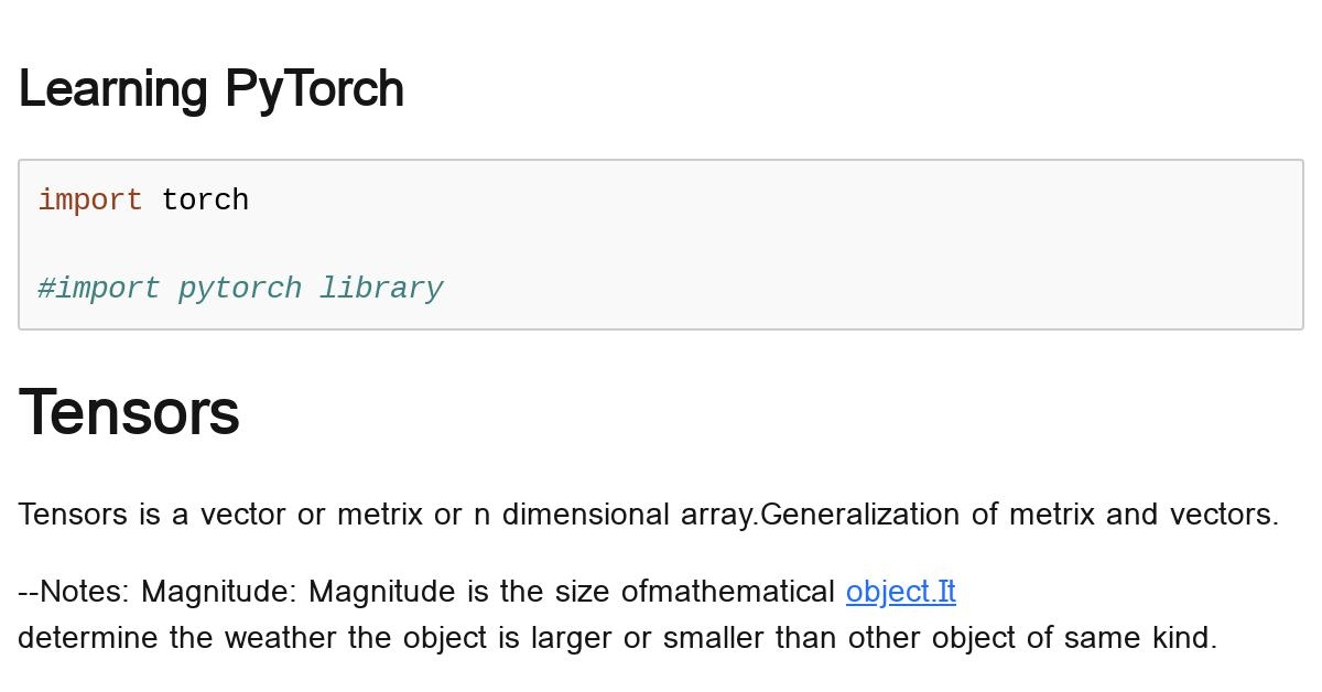 pytorch-learning-part1